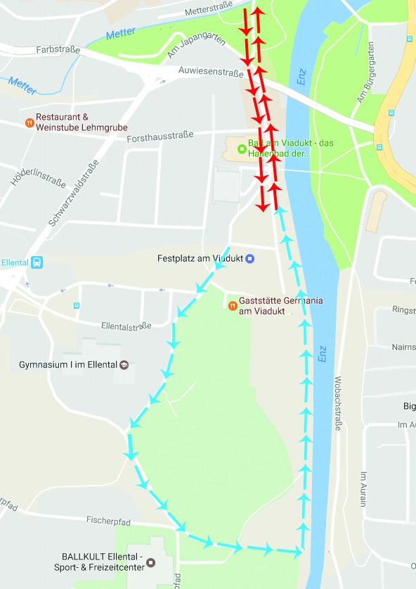 Route Kinderduathlon